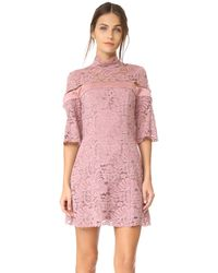 Keepsake | Purple Star Crossed Lace Mini Dress | Lyst