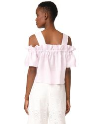 WHIT - Pink Mariposa Top - Lyst