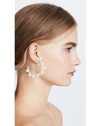 Rebecca Minkoff - Multicolor Pom Party Hoop Earrings - Lyst