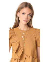 Madewell - Metallic Multi Layer Pendant Necklace - Lyst