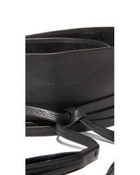 B-Low The Belt   Black Lena Wrap Belt   Lyst