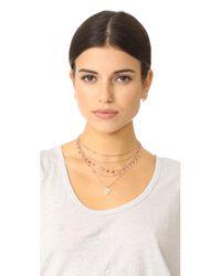 Luv Aj - Multicolor The Moonstone Multi Charm Necklace - Lyst