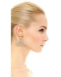 Shashi - Metallic Mia Tassel Fan Earrings - Lyst