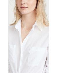 Jennifer Zeuner - Metallic Clover Necklace With Diamond - Lyst