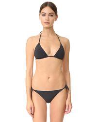Stella McCartney - Black Timeless Basics Triangle Bikini Top - Lyst