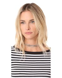 Rebecca Minkoff - Metallic Navette Metal Choker Necklace - Lyst