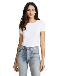 Only Hearts - White So Fine Layering T-shirt Bodysuit - Lyst