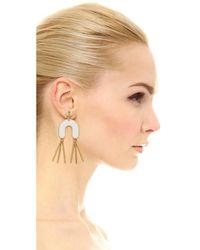 Madewell - White Enamel Fringe Earrings - Lyst