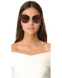 Miu Miu - Brown Overlapping Sunglasses - Lyst