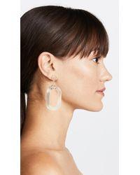 Kenneth Jay Lane - Metallic Polished Gold & Clear Oval Link Earrings - Lyst