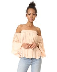 Elizabeth and James | Multicolor Emelyn Pleated Flare Sleeve Top | Lyst