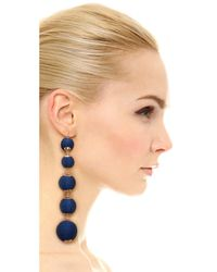 Shashi - Blue Lydia Ball Earrings - Lyst
