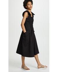 Carven - Black Cap Sleeve Dress - Lyst