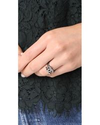 What Goes Around Comes Around - Metallic Chanel Cc Ring (previously Owned) - Lyst