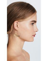 Alexis Bittar - Metallic Half Heart Grater Wire Earrings - Lyst