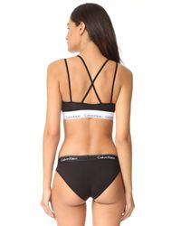 Calvin Klein - Black Modern Cotton Unlined Bralette - Lyst