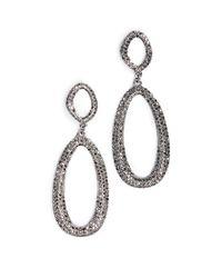 BaubleBar - Gray Daviana Hoop Earrings - Lyst