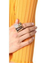 Alexis Bittar   Metallic Quartz Ring   Lyst