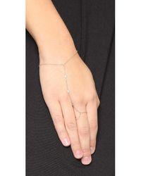 Jacquie Aiche - Metallic 3 Diamond Finger Bracelet - Lyst