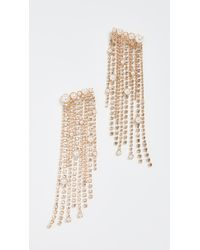 Elizabeth Cole - Natural Fringe Earrings - Lyst