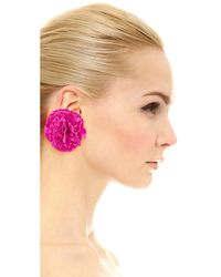 Kate Spade - Pink Fiesta Floral Earrings - Lyst