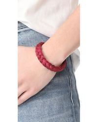 Shashi   Red Celine Cuff Bracelet   Lyst