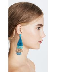 Deepa Gurnani - Blue Jasmine Deepa By Earrings - Lyst