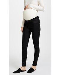 705d8ea5d6ad0 Lyst - J Brand Mama J Super Skinny Maternity Jeans in Black