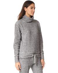 Twenty - Gray Maddux Fleece Drawstring Turtleneck - Lyst