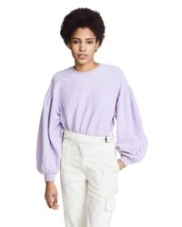 Free People - Purple Sleeves Like These Pullover - Lyst