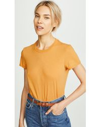 James Perse - Orange Feather Vintage Tee - Lyst