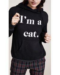Wildfox | Black I'm A Cat Hoodie | Lyst
