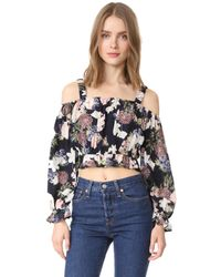 Nicholas | Multicolor N/ Thistle Floral Long Sleeve Rosie Top | Lyst