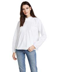 Velvet - White Nabia Blouse - Lyst