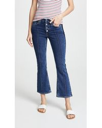 Cotton Citizen - Blue The Fly Flare Crop Jeans - Lyst