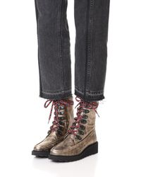 Free People - Metallic Fallon Hiker Boots - Lyst