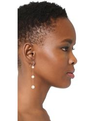 Chan Luu - White Tiered Earrings - Lyst