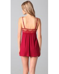 Only Hearts - Red So Fine Baby Doll Chemise - Lyst