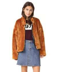Free People | Multicolor Furry Bomber Jacket | Lyst