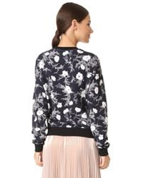 Carven - Black Long Sleeve Sweatshirt - Lyst