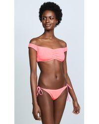 L*Space - Pink Ziggy Bikini Top - Lyst