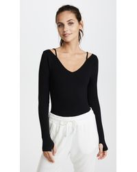 Free People - Black Movement Everyday Practice Leotard - Lyst