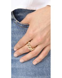SHAY - Metallic 18k Gold Single Baguette Diamond Jumbo Link Ring - Lyst