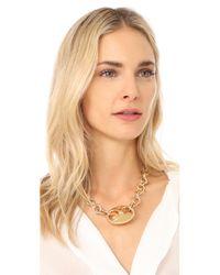 Gabriela Artigas - Metallic Egg Link Chain Choker Necklace - Lyst