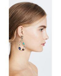 Alexis Bittar - Metallic Multi Stone Teardrop Earrings - Lyst