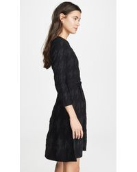 Yigal Azrouël Black Houndstooth Fit And Flare Dress