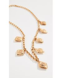 What Goes Around Comes Around - Metallic Chanel Charm Necklace - Lyst