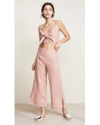 Faithfull The Brand - Pink Carmen Pants - Lyst
