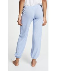 Eberjey - Blue Heather Cropped Pants - Lyst