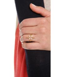 Elizabeth and James - Metallic Astral Ring - Lyst